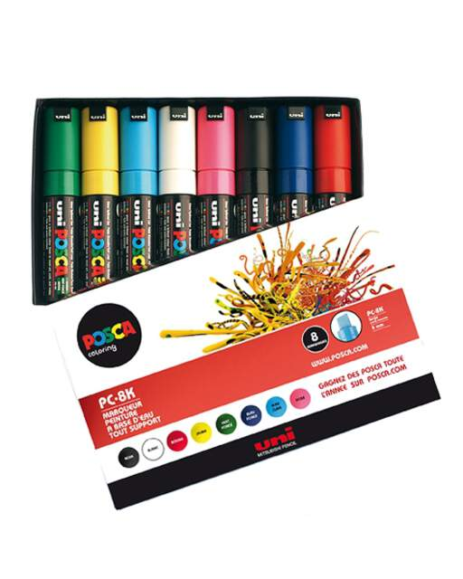 Posca: Uni Posca PC-8K 8er Set BASIC 1, Marker
