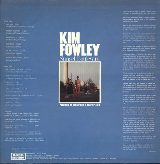 Kim Fowley: Sunset Boulevard, LP (Vinyl)