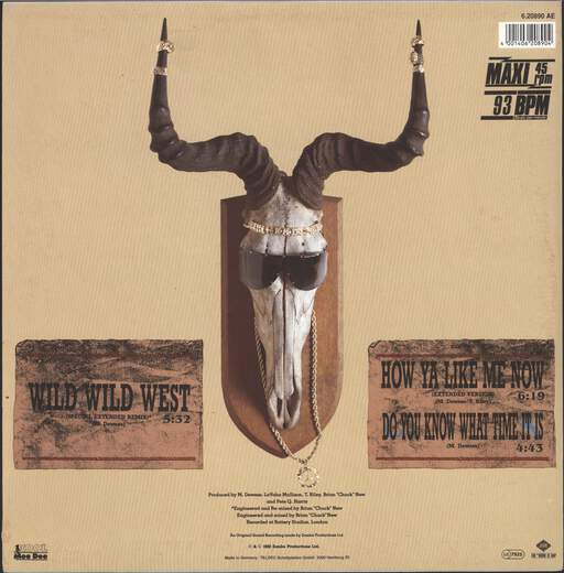 "Kool Moe Dee: Wild Wild West, 12"" Maxi Single (Vinyl)"
