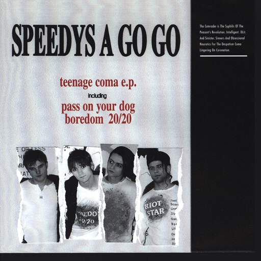 "Speedys A Go Go: Teenage Coma E.P., 7"" Single (Vinyl)"