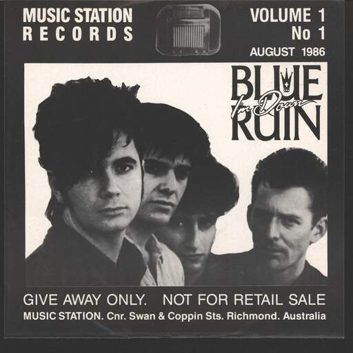 "Blue Ruin: Music Station Records Volume 1 No. 1, 7"" Single (Vinyl)"