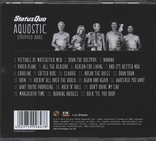 Status Quo: Aquostic Stripped Bare, CD