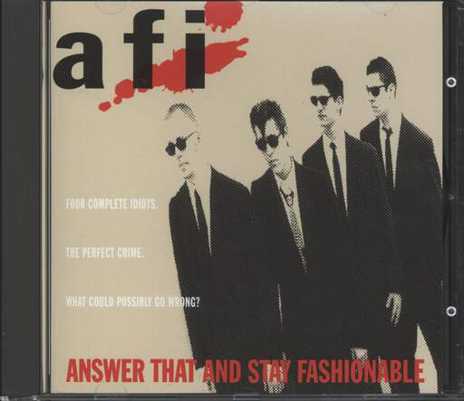Afi: Answer That And Stay Fashionable, CD