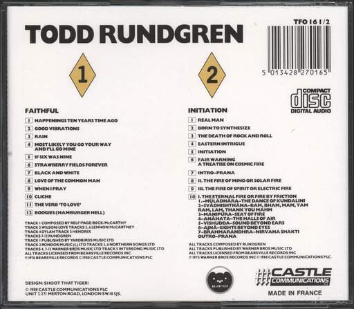 Todd Rundgren: Faithful / Initiation, CD
