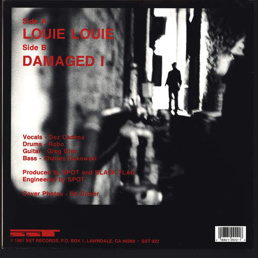 "Black Flag: Louie Louie / Damaged 1, 10"" Vinyl EP"