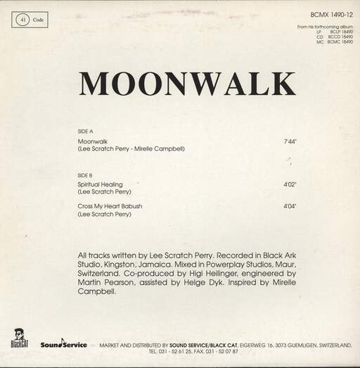 "Lee Perry: Moonwalk, 12"" Maxi Single (Vinyl)"