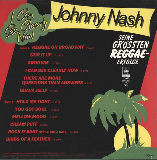 Johnny Nash: I Can See Clearly Now - Seine größten Reggae-Erfolge, LP (Vinyl)