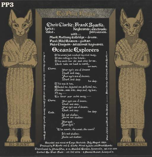 "Ex Post Facto: Oceanic Explorers, 12"" Maxi Single (Vinyl)"