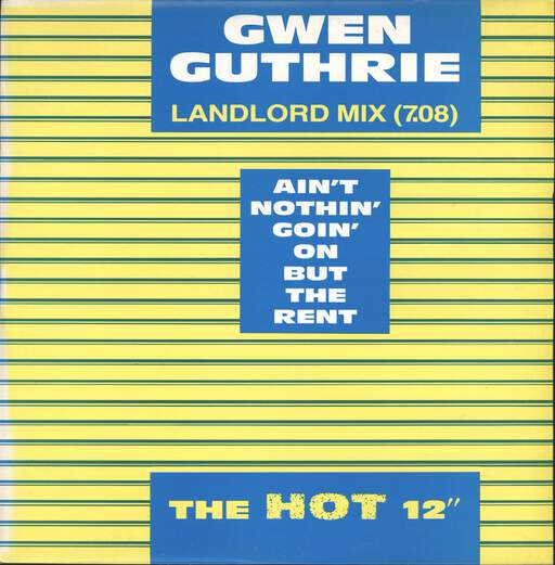 "Gwen Guthrie: Ain't Nothin' Goin' On But The Rent, 12"" Maxi Single (Vinyl)"