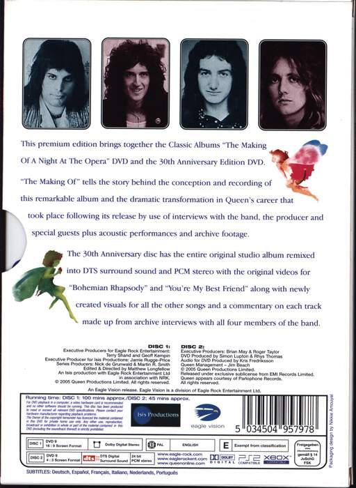 Queen: The Making Of Plus 30th Anniversary DVD Edition Of A Night At The Opera, DVD