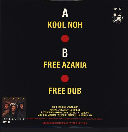 "Aswad: Kool Noh, 12"" Maxi Single (Vinyl)"