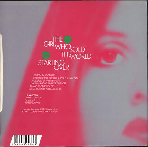 "Spacemaid: The Girl Who Sold The World, 7"" Single (Vinyl)"