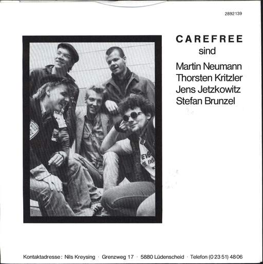"Carefree: Eating Your Own Words, 7"" Single (Vinyl)"