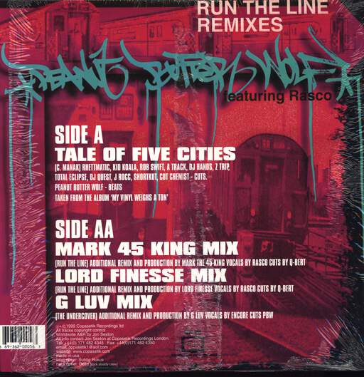 "Peanut Butter Wolf: Tale of Five Cities, 12"" Maxi Single (Vinyl)"