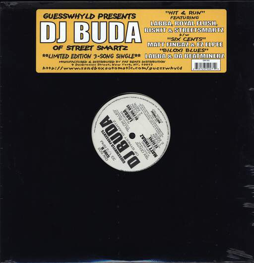 "DJ Buda: Hit & Run / Six Cents / Biloxi Blues, 12"" Maxi Single (Vinyl)"