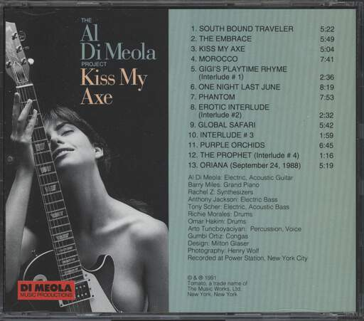 Al Di Meola Project: Kiss My Axe, CD