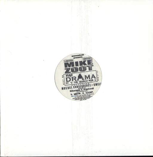 "Mike Zoot: High Drama, Pt. 3: The Search For 2, 12"" Maxi Single (Vinyl)"