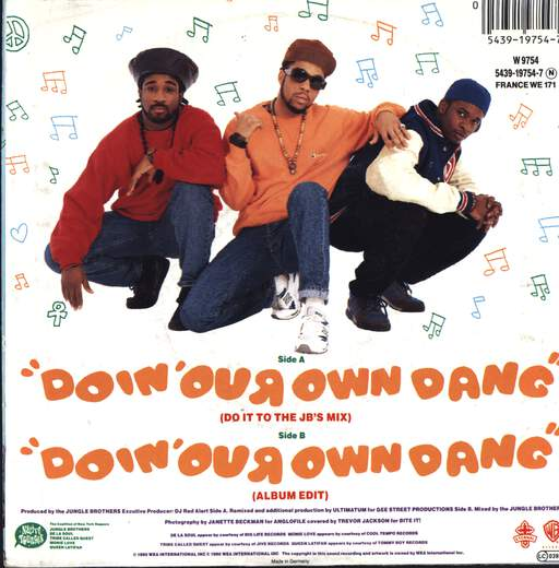 "Jungle Brothers: Doin' Our Own Dang, 7"" Single (Vinyl)"