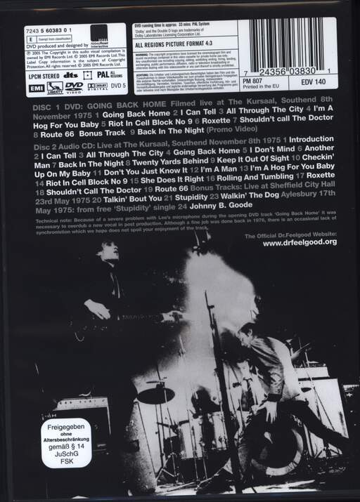 Dr Feelgood: Going Back Home, DVD