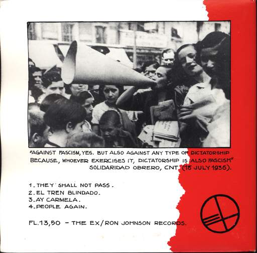 "Ex: 1936, The Spanish Revolution, 7"" Single (Vinyl)"
