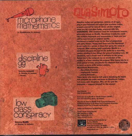 "Quasimoto: Microphone Mathematics, 12"" Maxi Single (Vinyl)"