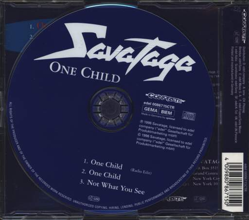 Savatage: One Child, Mini CD