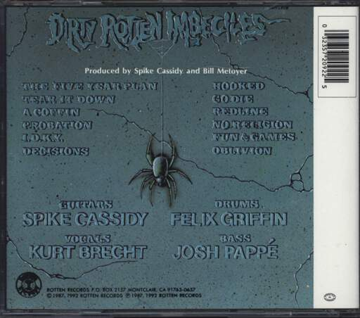 Dirty Rotten Imbeciles: Crossover, CD