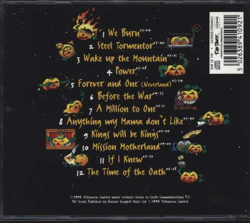 Helloween: The Time Of The Oath, CD