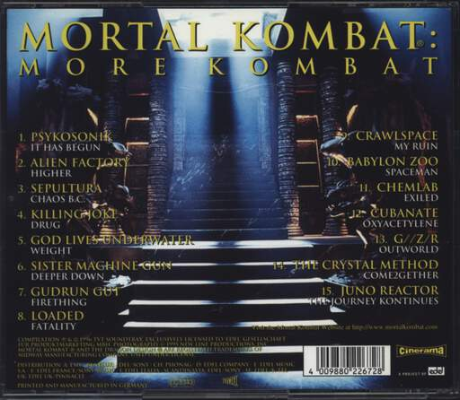 Various: Mortal Kombat: More Kombat, CD