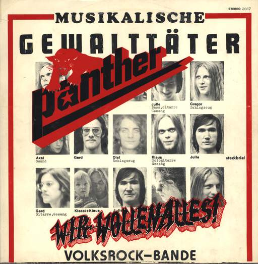 "Panther: Wir Wollen Alles!, 12"" Maxi Single (Vinyl)"