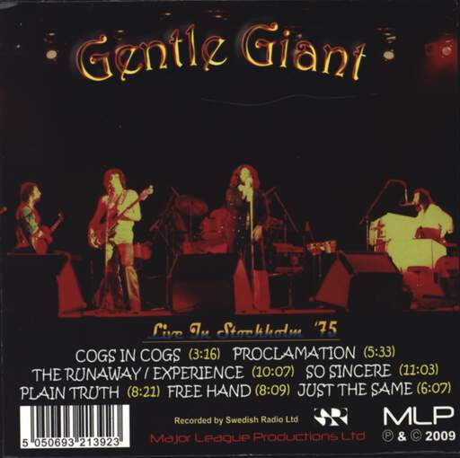 Gentle Giant: Live In Stockholm '75, CD