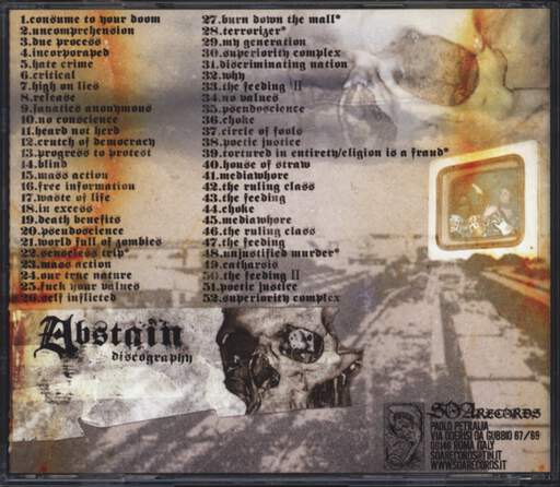 Abstain: Discography, CD