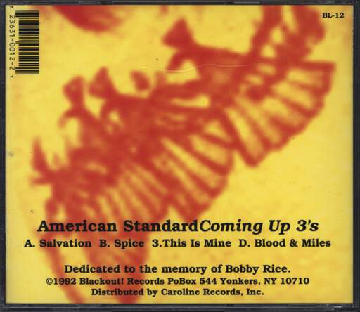 American Standard: Coming Up 3's, Mini CD