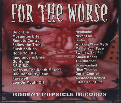 For The Worse: Coudnt Give Two Shits About The Kids, CD