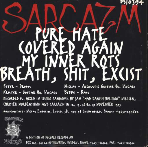 Sarcazm: Breath, Shit, Excist..., Mini CD