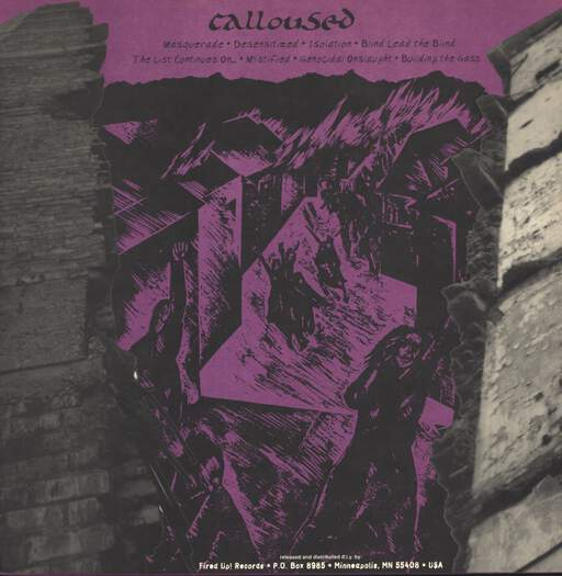"Calloused: The Masquerade, 12"" Maxi Single (Vinyl)"
