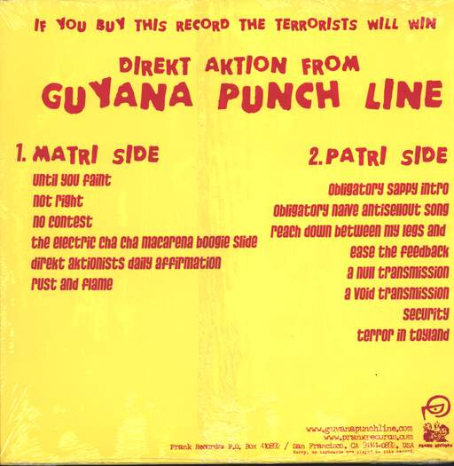 "Guyana Punch Line: Direkt Aktion, 12"" Maxi Single (Vinyl)"