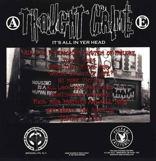 Thought Crime: It's All In Your Head, LP (Vinyl)