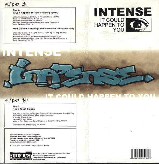 "Intense: It Could Happen To You / One Glance / Know What I Mean, 12"" Maxi Single (Vinyl)"