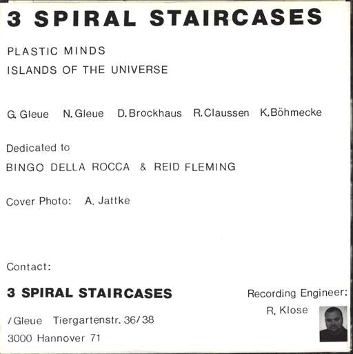"3 Spiral Staircases: Plastic Minds, 7"" Single (Vinyl)"