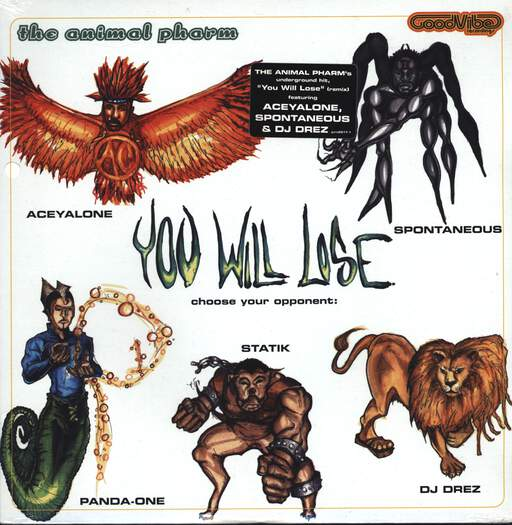 "The Animal Pharm: You Will Lose, 12"" Maxi Single (Vinyl)"