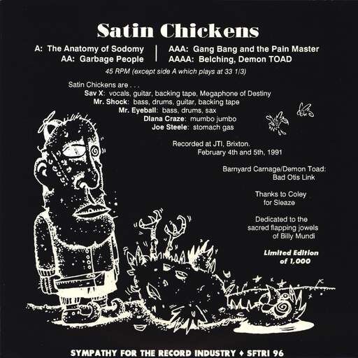 "Satin Chickens: Satin Chickens, 7"" Single (Vinyl)"