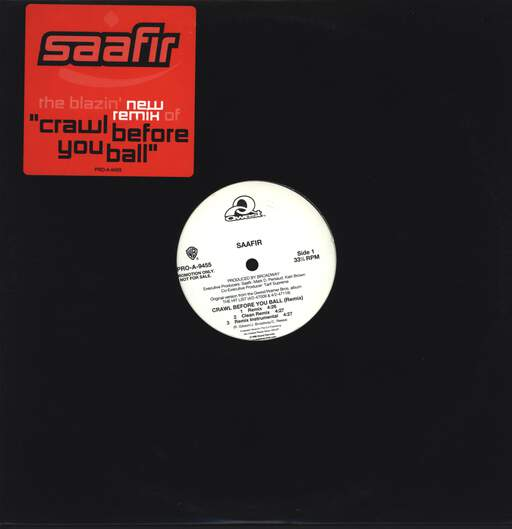 "Saafir: Crawl Before You Ball (Remix), 12"" Maxi Single (Vinyl)"
