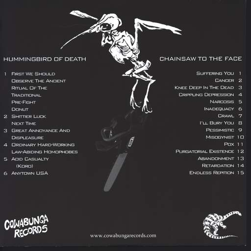 "Hummingbird Of Death: Hummingbird Of Death / Chainsaw To The Face, 10"" Vinyl EP"
