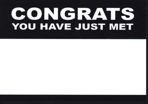 Sticker: Congrats You Have Just Met (50 Stück), Other