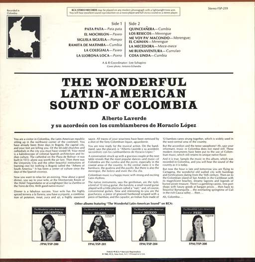 Alberto Laverde: The Wonderful Latin-American Sound Of Colombia, LP (Vinyl)