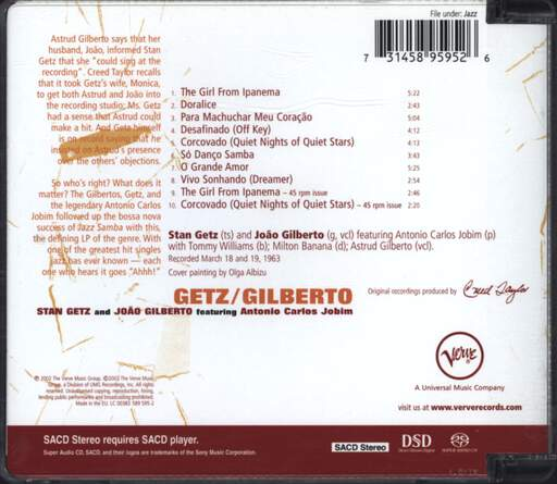 Stan Getz: Getz / Gilberto, CD