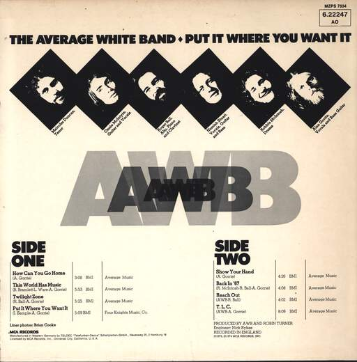 Average White Band: Put It Where You Want It, LP (Vinyl)