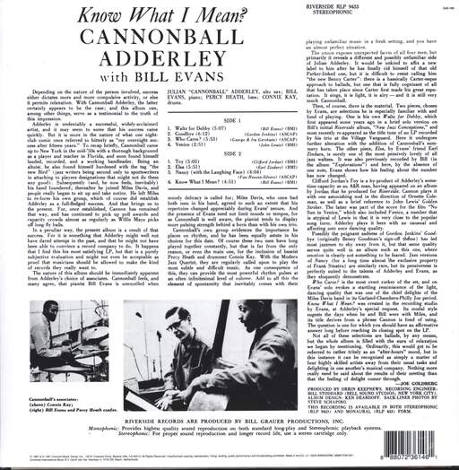 Cannonball Adderley: Know What I Mean ?, LP (Vinyl)