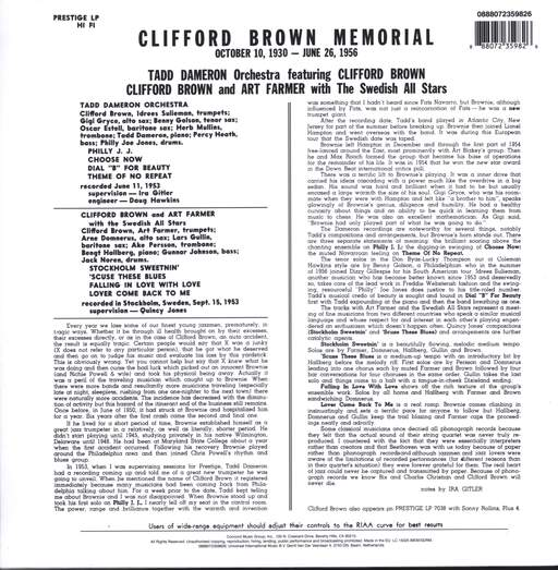 Clifford Brown: Memorial, LP (Vinyl)